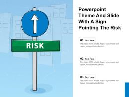 Powerpoint Theme And Slide With A Sign Pointing The Risk