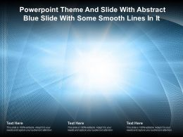 Powerpoint Theme And Slide With Abstract Blue Slide With Some Smooth Lines In It