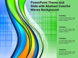 Powerpoint Theme And Slide With Abstract Colorful Waves Background