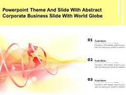 Powerpoint Theme And Slide With Abstract Corporate Business Slide With World Globe