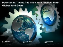 Powerpoint Theme And Slide With Abstract Earth Globes And Gears