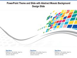 Powerpoint Theme And Slide With Abstract Mosaic Background Design Slide