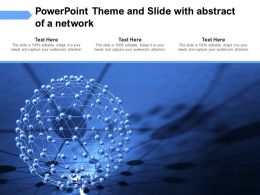 Powerpoint Theme And Slide With Abstract Of A Network