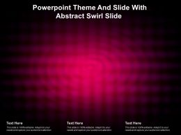 Powerpoint Theme And Slide With Abstract Swirl Slide