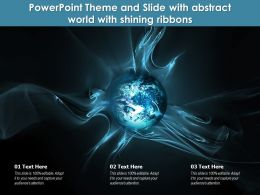 Powerpoint Theme And Slide With Abstract World With Shining Ribbons