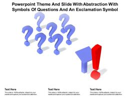 Powerpoint Theme And Slide With Abstraction With Symbols Of Questions And An Exclamation Symbol