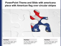 Powerpoint Theme And Slide With Americana Piece With American Flag Over Circular Stripes