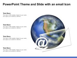 Powerpoint Theme And Slide With An Email Icon