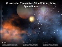 Powerpoint Theme And Slide With An Outer Space Scene