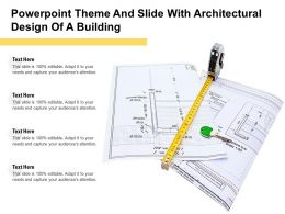 Powerpoint Theme And Slide With Architectural Design Of A Building