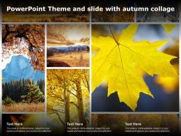 Powerpoint Theme And Slide With Autumn Collage