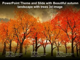 Powerpoint Theme And Slide With Beautiful Autumn Landscape With Trees 3d Image