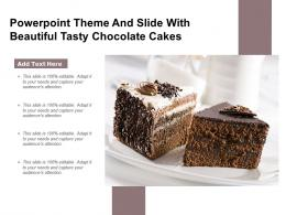 Powerpoint Theme And Slide With Beautiful Tasty Chocolate Cakes