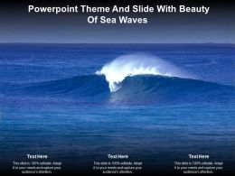 Powerpoint Theme And Slide With Beauty Of Sea Waves