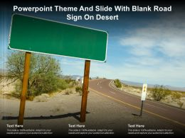 Powerpoint Theme And Slide With Blank Road Sign On Desert