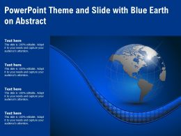 Powerpoint Theme And Slide With Blue Earth On Abstract
