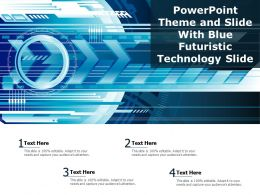Powerpoint Theme And Slide With Blue Futuristic Technology Slide