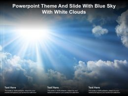 Powerpoint Theme And Slide With Blue Sky With White Clouds