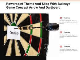 Powerpoint Theme And Slide With Bullseye Game Concept Arrow And Dartboard
