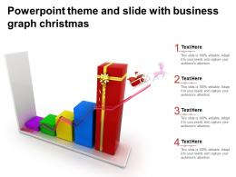 Powerpoint Theme And Slide With Business Graph Christmas