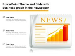Powerpoint Theme And Slide With Business Graph In The Newspaper