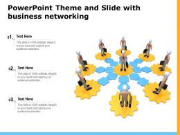 Powerpoint Theme And Slide With Business Networking