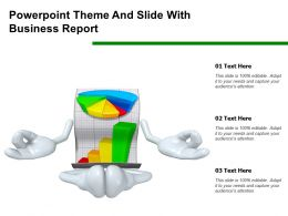 Powerpoint Theme And Slide With Business Report