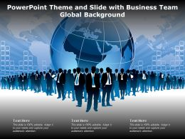 Powerpoint Theme And Slide With Business Team Global Background