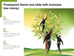 Powerpoint Theme And Slide With Business Tree Money