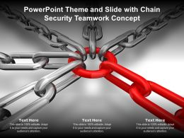 Powerpoint Theme And Slide With Chain Security Teamwork Concept