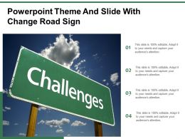Powerpoint Theme And Slide With Change Road Sign