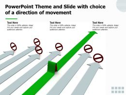 Powerpoint Theme And Slide With Choice Of A Direction Of Movement