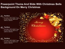 Powerpoint Theme And Slide With Christmas Bells Background On Merry Christmas