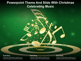 Powerpoint Theme And Slide With Christmas Celebrating Music