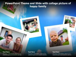 Powerpoint Theme And Slide With Collage Picture Of Happy Family