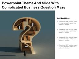 Powerpoint Theme And Slide With Complicated Business Question Maze