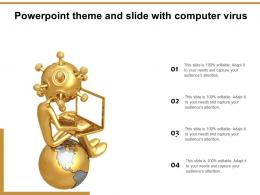 Powerpoint Theme And Slide With Computer Virus