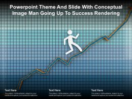 Powerpoint Theme And Slide With Conceptual Image Man Going Up To Success Rendering