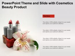 Powerpoint Theme And Slide With Cosmetics Beauty Product