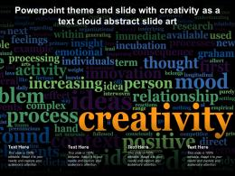 Powerpoint Theme And Slide With Creativity As A Text Cloud Abstract Slide Art