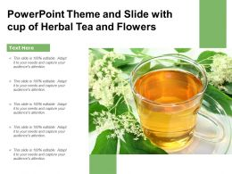 Powerpoint Theme And Slide With Cup Of Herbal Tea And Flowers