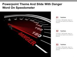 Powerpoint Theme And Slide With Danger Word On Speedometer