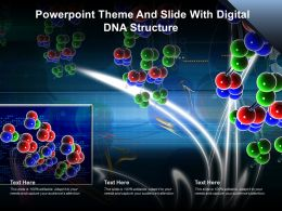 Powerpoint Theme And Slide With Digital DNA Structure