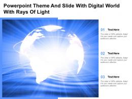 Powerpoint Theme And Slide With Digital World With Rays Of Light