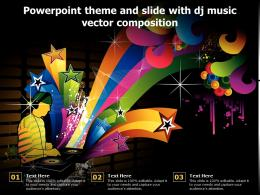 Powerpoint Theme And Slide With Dj Music Vector Composition
