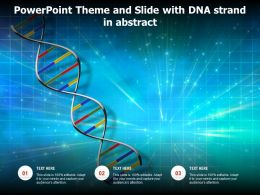 Powerpoint Theme And Slide With DNA Strand In Abstract
