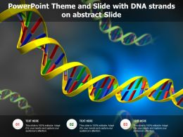 Powerpoint Theme And Slide With DNA Strands On Abstract Slide