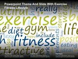 Powerpoint Theme And Slide With Exercise Fitness Lifestyle