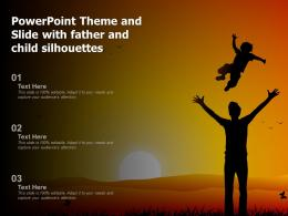 Powerpoint Theme And Slide With Father And Child Silhouettes