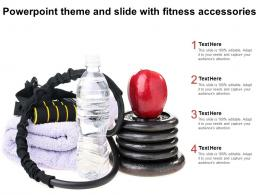 Powerpoint Theme And Slide With Fitness Accessories